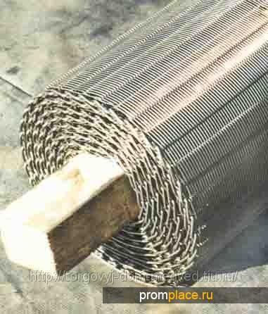 Сетка мелкоячеистая для сушильных установок древесностружечных материалов.