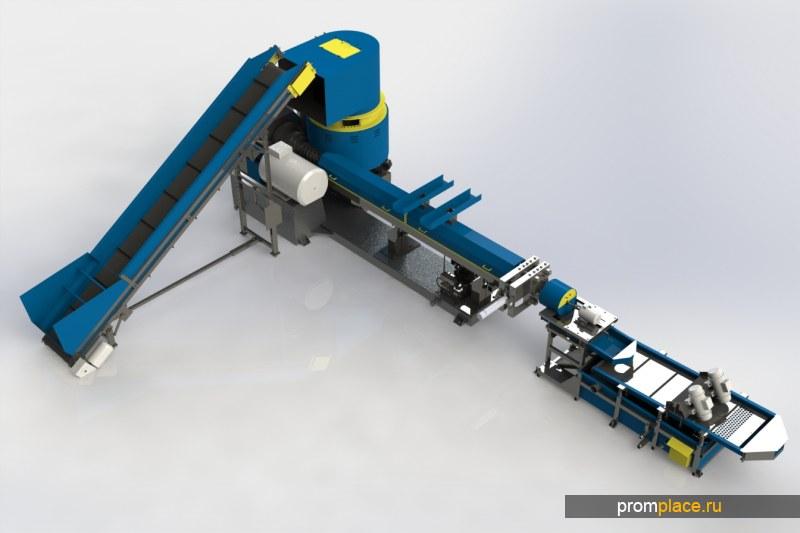 Революция в мире переработки!!! Совмещенный компактор с гранулятором. Компактор – экструдер. ПНД, ПВД, ПП, PS, стрейч, спанбонд, 400 кг/ч Покупать всем!
