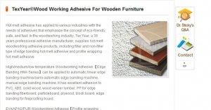 Предлагаем клеи для деревянной мебели