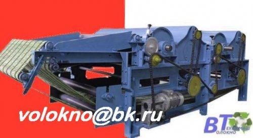 Оборудование для переработки текстильных отходов в вату.