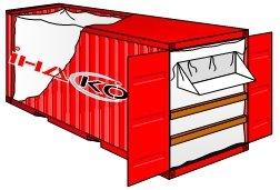 Предлагаем приобрести контейнерный вкладыш, для морских контейнеров