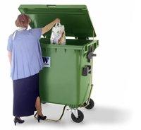 Евроконтейнеры для сбора отходов и мусора MGB 1100 литров с плоской крышкой и педалью - Контейнеры для ТБО марки Weber (Германия)