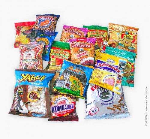 Упаковочное оборудование для сахара, круп, макарон, чая, семечек, снэков, печений