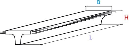 Балки таврового сечения для автодорожных мостов Б1200