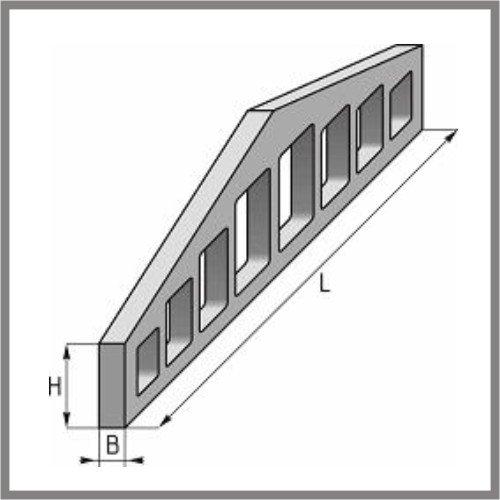 Балки предварительно-напряженные двухскатные решетчатые длиной 12м