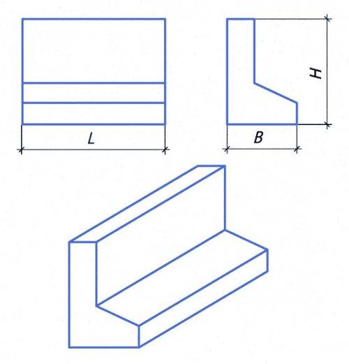 Блок подпорной стенки