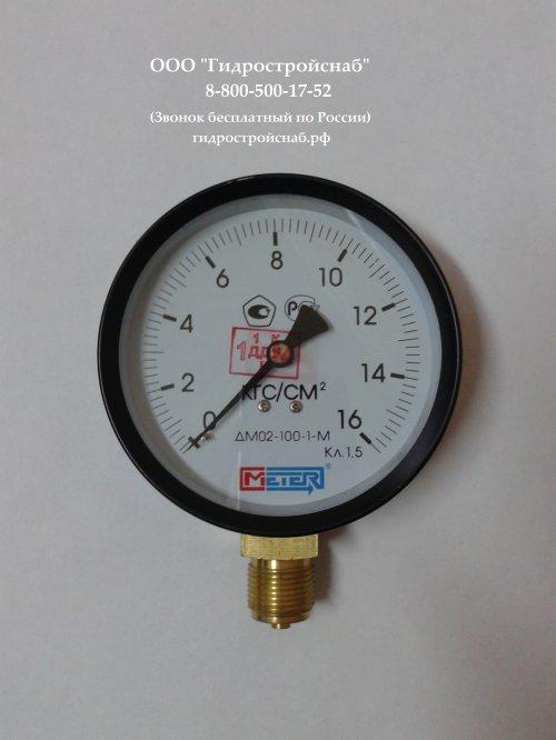 Манометр ДМ02-100-1М 0..6,10.....40, 60 кгс/см2 (поверка 2 года)