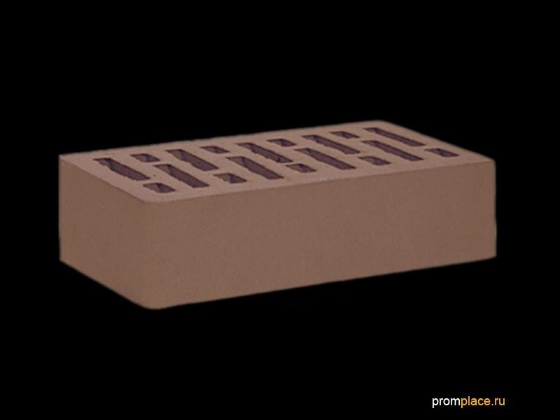 Кирпич облицовочный  керамический мокко одинарный производства ООО «ОСМиБТ» г.Старый Оскол