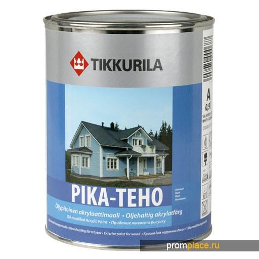 Краска ПИКА-ТЕХО водоразбавляемая акрилатная матовая для наружных работ по дереву, содержащая масло, Тиккурила