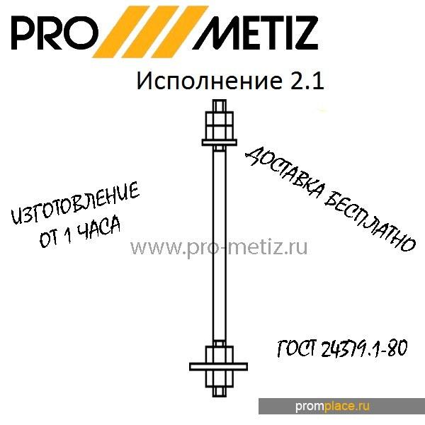 Фундаментный болт 2.1 М16Х250 09г2с ГОСТ 24379 1.80 ГОСТ 24379.1-2012