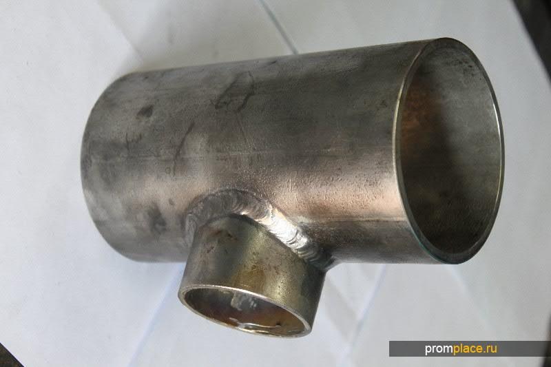 Тройник сварной нержавеющий для трубопроводов Ду 89х5-57х3