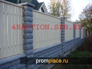 Производство бетонных заборов, бетонные блоки забора, Блок Забора БЗ-40.