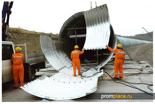 Трубы водопропускные изгофрированного металла