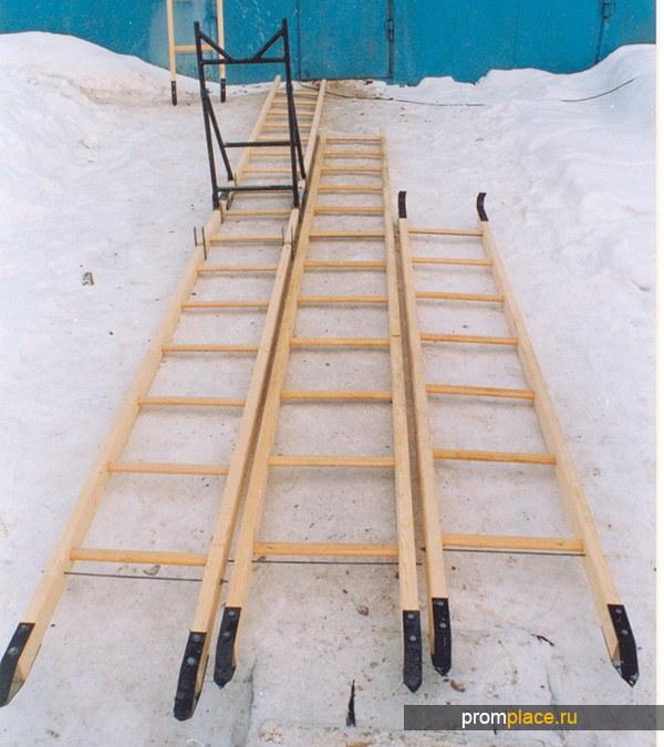 Лестница приставная деревянная