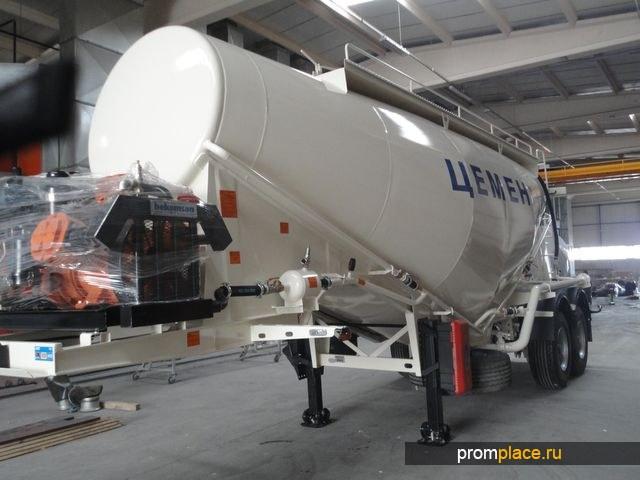 Цементовоз NURSAN 35 m3 c дизельным компрессором
