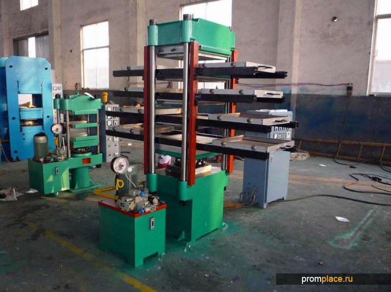 Пресс для производства резиновой плитки