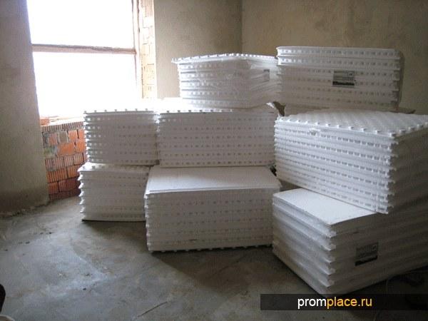 Плиты из формованного пенополистирола для водоподогреваемых полов М-50