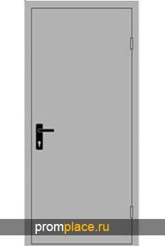 Дверь противопожарная EI-60 однопольная глухая 2100х1000