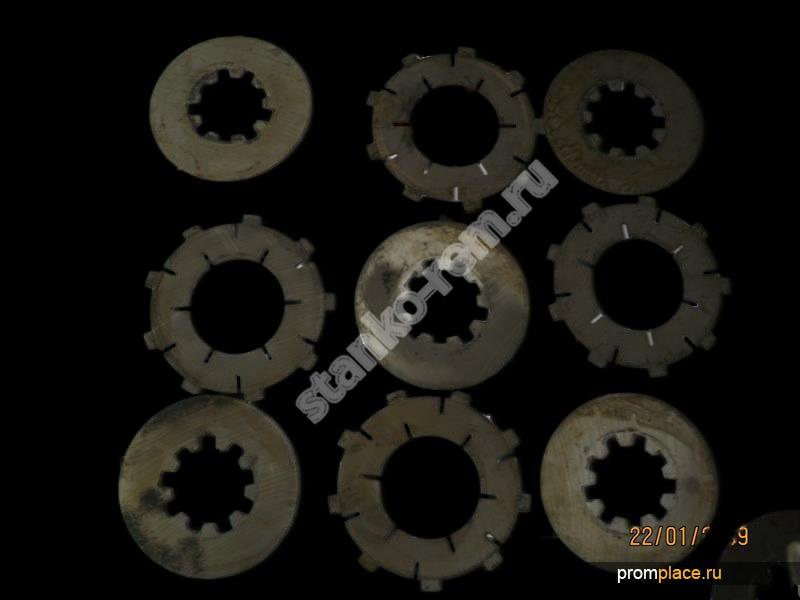 Диски фрикционные на станки 1К62, 1К62Д, 16К20, 1М63, 6Р12, 6Р13, 6Р82, ВМ-127, 6М83, 6М13П, 2М55, 2А554, 2М58, 2А576, 2М57