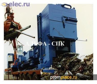 Гидравлические мобильные пресс-ножницы для металлолома «ALFA-POPECI», Румыния