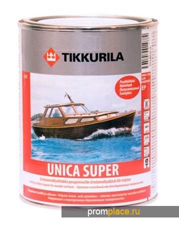 Лак УНИКА СУПЕР  уретано-алкидный универсальный для дерева, Тиккурила
