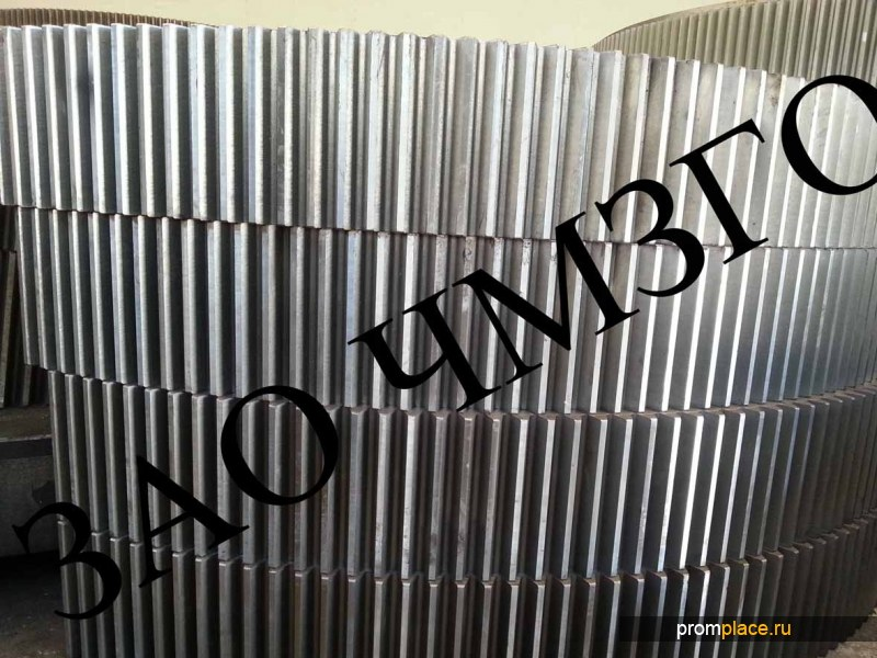 Венец зубчатый №13740И1, m=20, z=244, вес 12360кг. для мельницы Ш-50, предлагаем также шестерни приводные №13736,модуль m=20,  z=41 и вал-шестерни №15292И1,стенку торцевую заднюю №В132-0910И1-0 и стенку торцевую переднюю №В132-09С8И1-0 к мельнице Ш-50