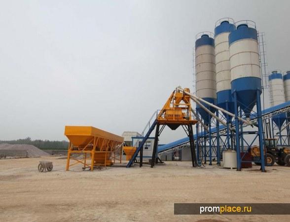 Бетонный завод , производительность  50 куб.м. в час