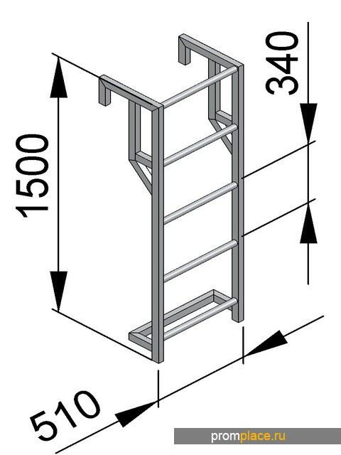 Лестница навесная ЛНА