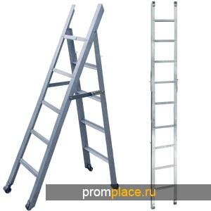 Лестница колодезная ЛСМС ЛК. Алюминиевая сварная складная