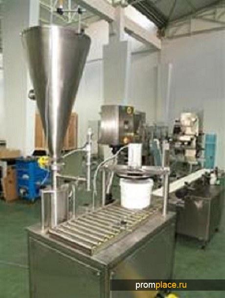 Аппарат для фасовки и упаковки продукции в пластиковые ведра