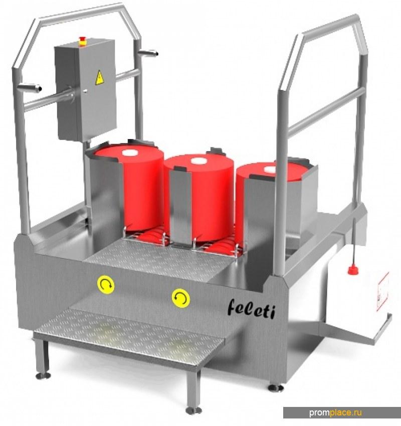 Проходная станция гигиены обуви, «FELETI» модель СНП-3/300/300
