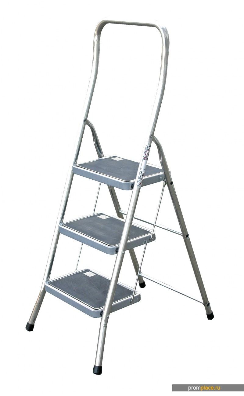 Toppy XL Алюминиевая складная подставка-стремянка с широкой прорезиненной ступенью. Рабочая высота: 2,50 m – 2,70 m