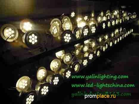 высокий люмен 7W светодиодные потолок внимания, регулируемый светильник, высокая мощность осветительных приборов