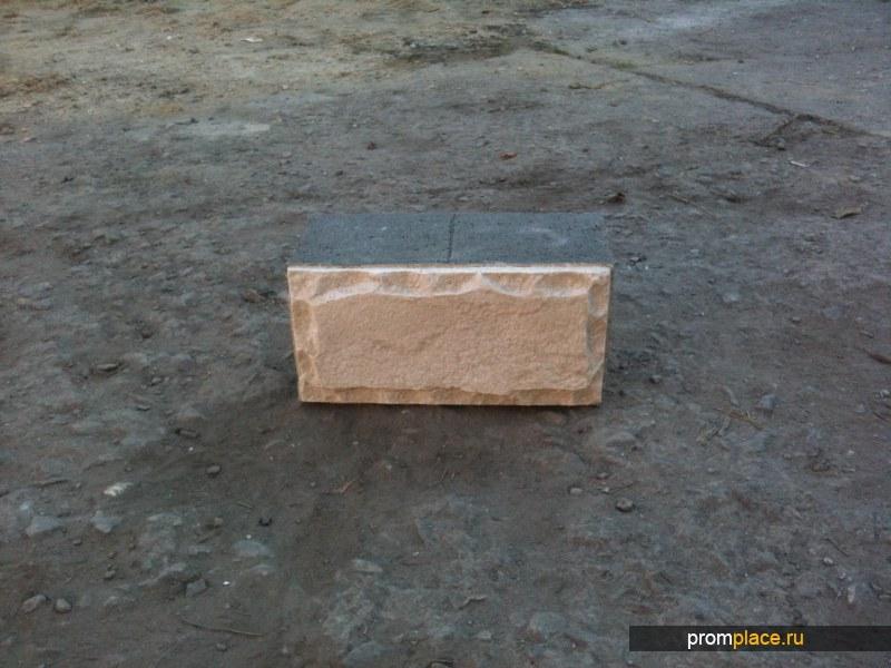 керамзитоблок с фактурой
