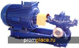 Насосы горизонтальные Д, 1Д, 2Д, как пример  Д 200-36 с эл. двигателем 37 квт