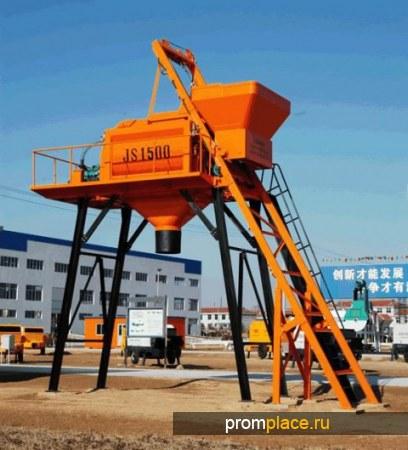 Принудительная бетономешалка, бетоносмеситель JS1500