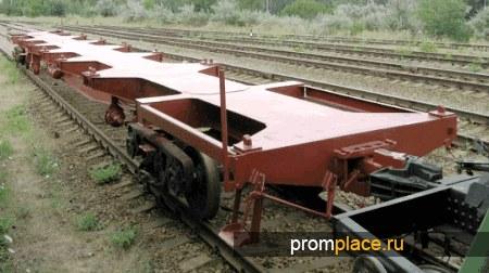 Вагон Платформа для перевозки крупнотоннажных контейнеров модель 13-971