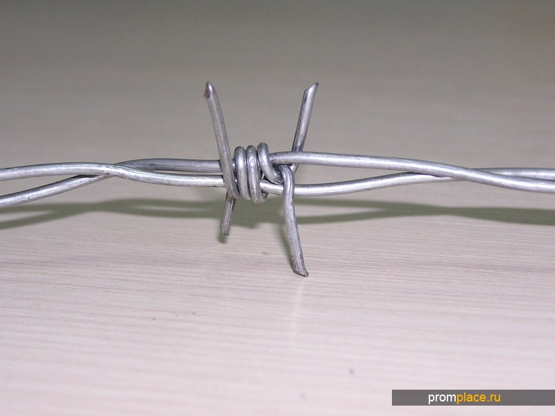 Проволока колючая двухосновная от 1,8 мм до 2,5 мм оцинкованная по ГОСТ