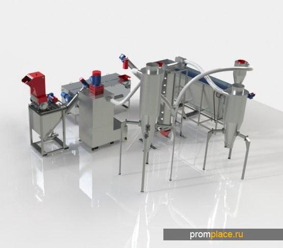 ПЭТ- комплекс в наличии, не китай, производительность от 300 до 600 кг/ч