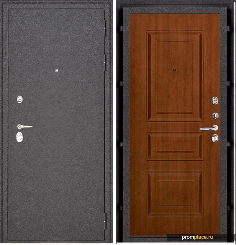 Дверь входная металлическая Колизей 3D панели Тёмный орех