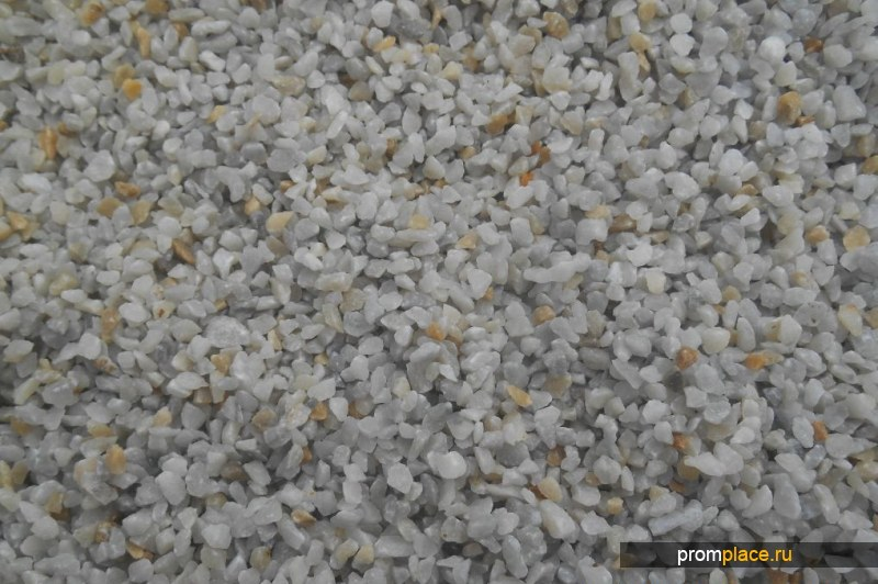Мраморный щебень, цвет серый