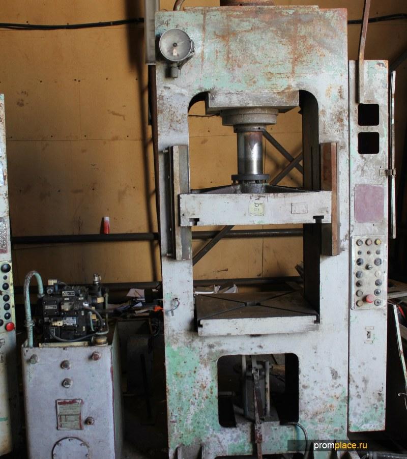 Пресс гидравлический 100т Модель Д2430Б