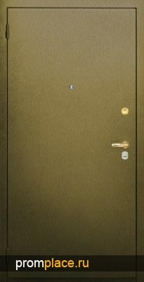 Металлические двери сзеркалом