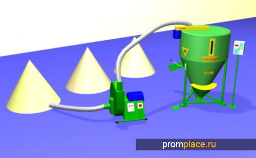 Дробилка зерна (0,5-1-2-3-4 т/ч), СМЕСИТЕЛЬ Комбикорма