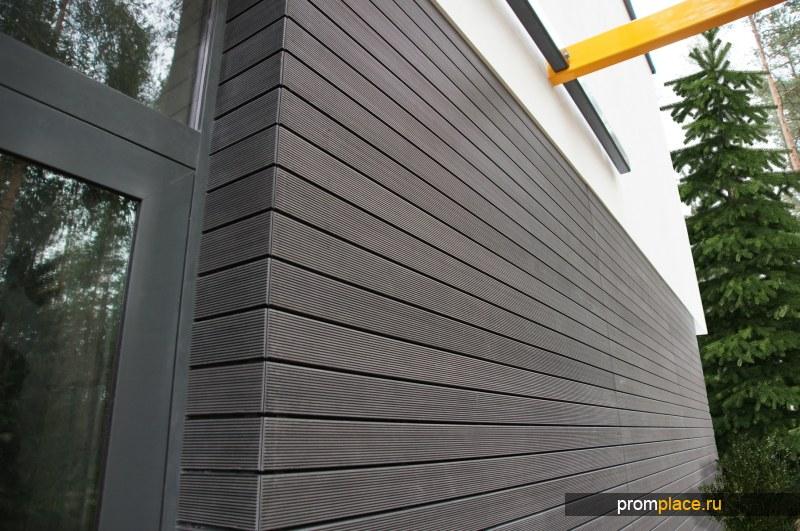 Планкен  из древесно-полимерного композита (ДПК) для отделки фасадов
