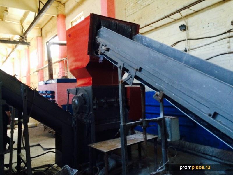 "дробилка моющая ""ласточкин хвост"" 55 кВт, бэги со стропами, пленка, тара. до 600 кг/ч"