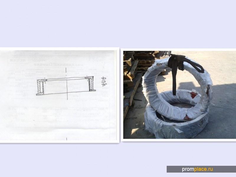 тормозные(бандажи)  шкивы главного барабана лёбёдки