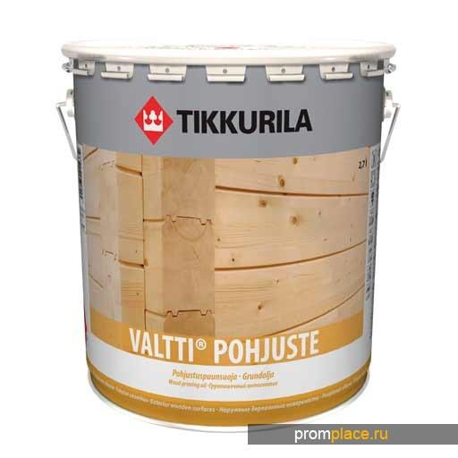 Антисептик грунтовочный ВАЛТТИ-ГРУНТ  бесцветный с льняным маслом на растворителе, Тиккурила
