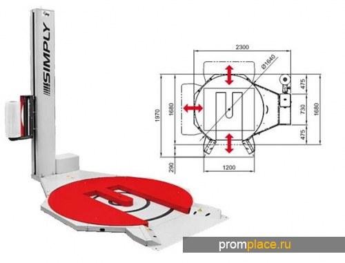 Паллетообмтчик SIMPLY transpallet с Е-образным поворотным столом (Италия)