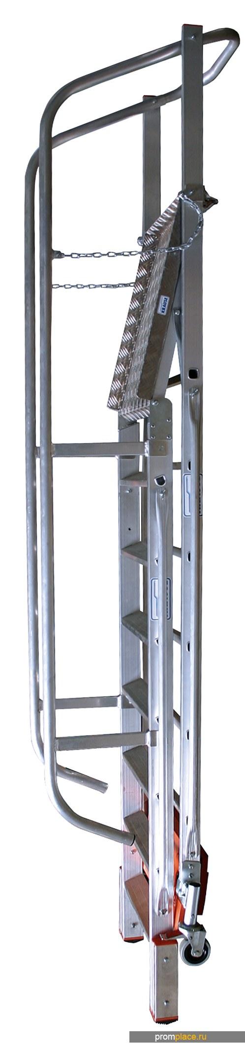 "Лестница с платформой ""Vario компакт"" Складная. Рабочая высота: 3,10 m – 5,28 m"